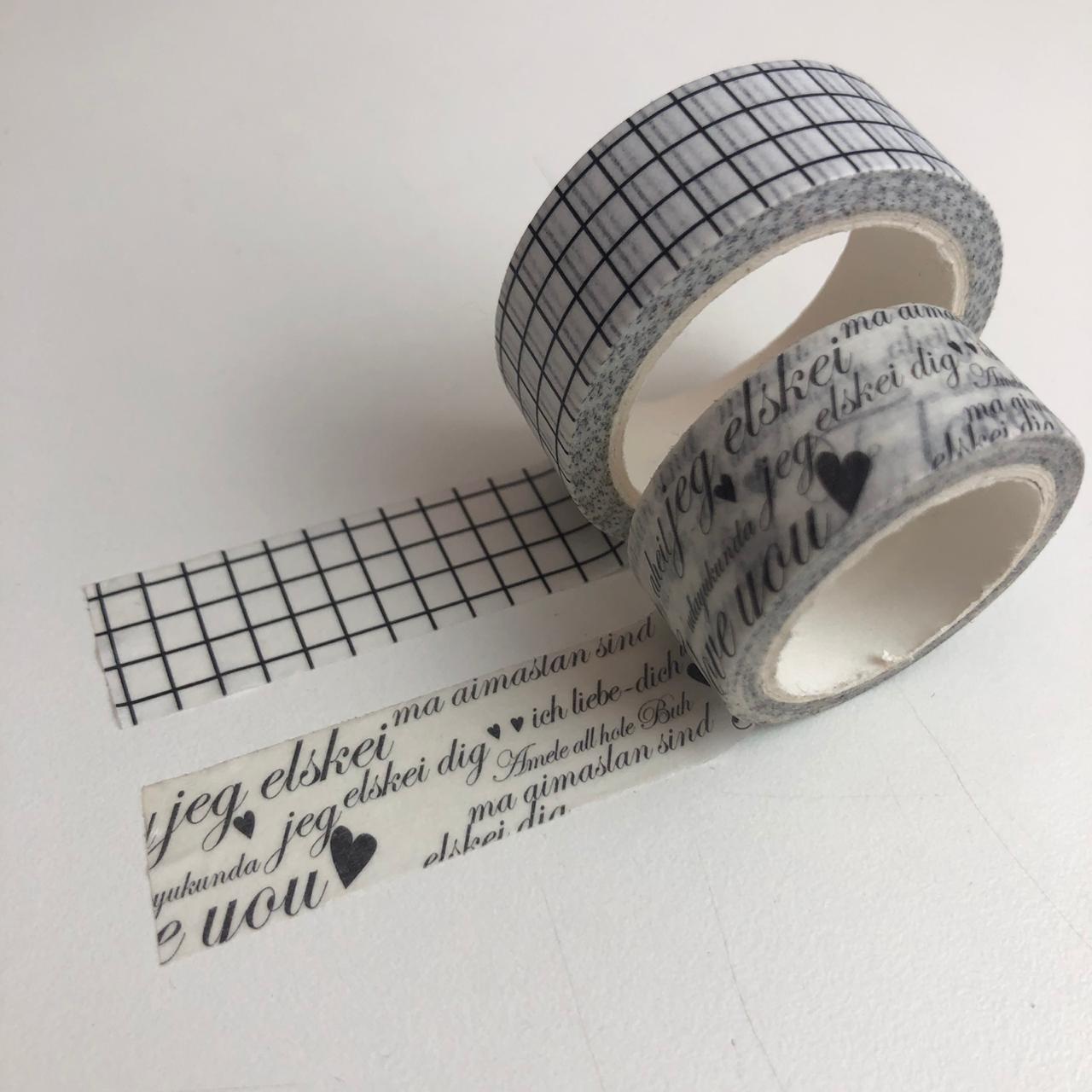 Kit Washi Tapes I Love You (washi01)