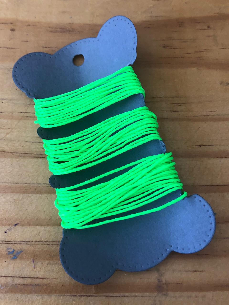 Linha Encerada Verde Neon - 5 m