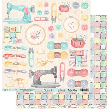 MMCMC-02 - Papel Scrap - My Patchwork - Coleção My Crafts - My Memories Crafts