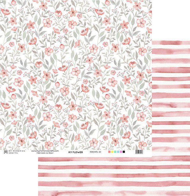 Papel Scrap - Coleção My Flower - My Memories Crafts (MMCMFL-01)