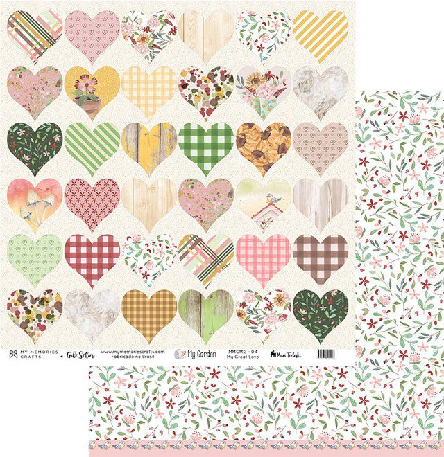 Papel Scrap - My Great Love - Coleção My Garden - My Memories Crafts (MMCMG-04)