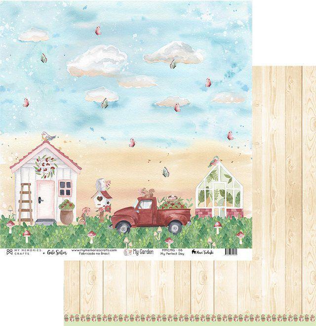 Papel Scrap - My Perfect Day - Coleção My Garden - My Memories Crafts (MMCMG-06)