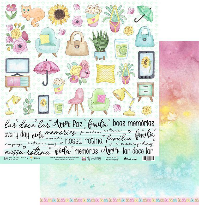 Papel Scrap - My Everyday - Coleção My Journey - My Memories Crafts (MMCMJ-10)