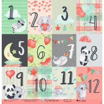 MMCML-06 - Papel Scrap - My Happiness - Coleção My Little Big Love - My Memories Crafts