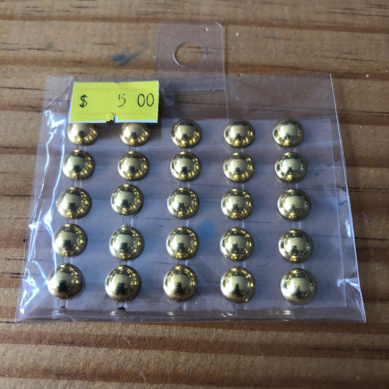 Adesivo Meia Pérola - Dourada - 0,7 cm (MP03)