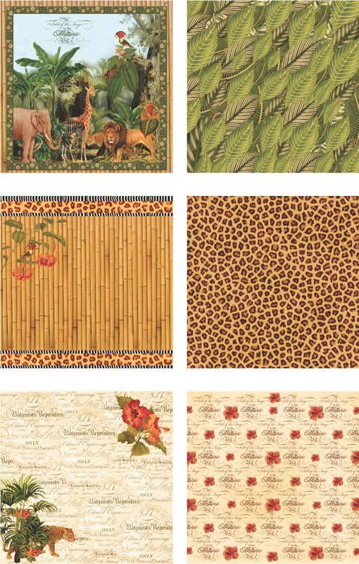 Bloco de Papéis Coordenados - Mini Scrap 15 x 15 - Nature - Arte Fácil (MS-009)