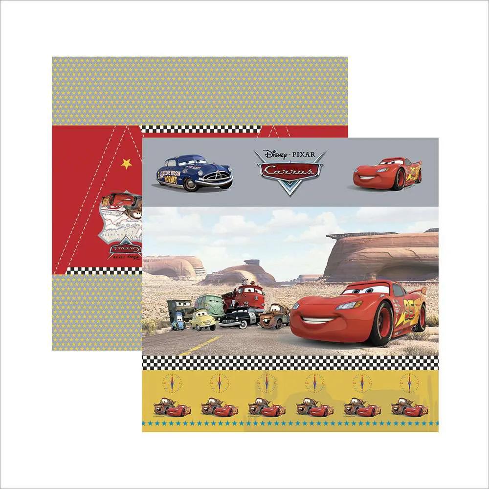 Papel Scrap - Carros 1 Cenário e Bandeirolas - Disney/Pixar - Toke e Crie (19696)