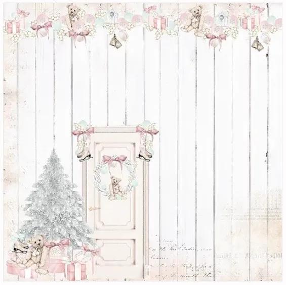Papel Scrap - Debaixo da Árvore - Coleção História de Natal - Dany Peres (DP-HN-02)
