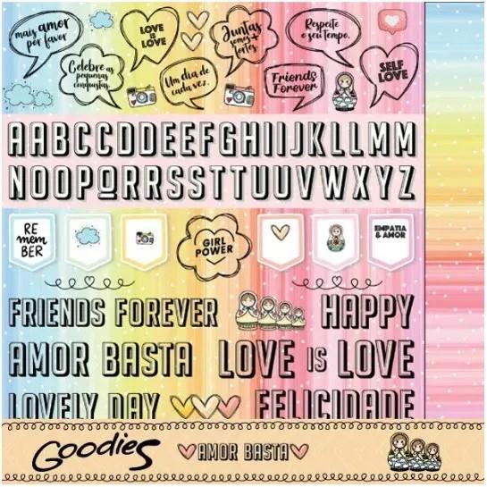 Papel Scrap - Love is Love - Coleção Amor Basta - Goodies (PP197)