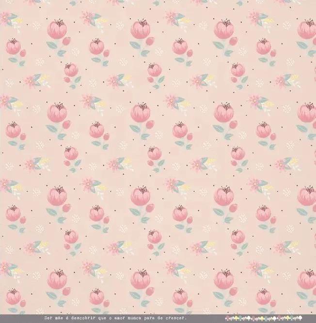 Papel Scrap - Mamãe do Ano - Coleção Meu Coração é Seu - Juju Scrapbook (22035)