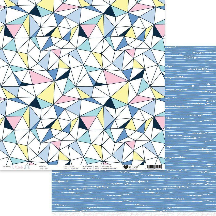 Papel Scrap - Skyline - Coleção Urban Life - It Lov