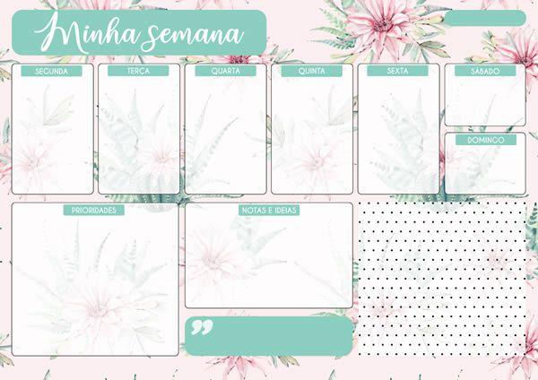 Planner semanal - Que a felicidade vire rotina - Arte Fácil (PL-001)