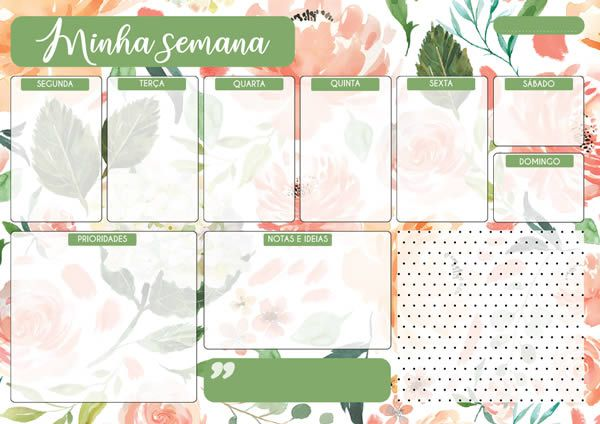 Planner semanal - Pensar, planejar, executar - Arte Fácil (PL-002)