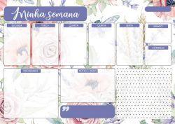 Planner semanal - Nada é tão nosso - Arte Fácil (PL-003)