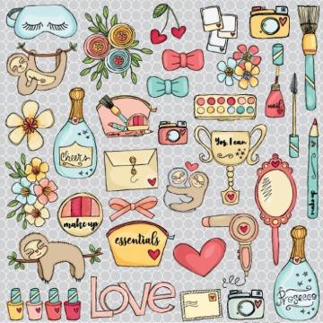 PP144 - Papel Scrap - Mix - Coleção Essencial - Goodies