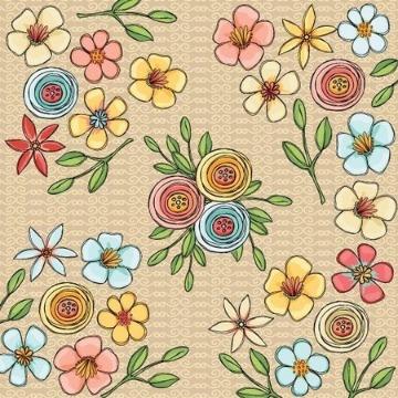 PP148 - Papel Scrap - Jardim - Coleção Essencial - Goodies