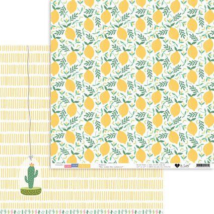 PSF0305 - Papel Scrap - Meu Limão, Meu Limoeiro - Para Ser Feliz - It Lov