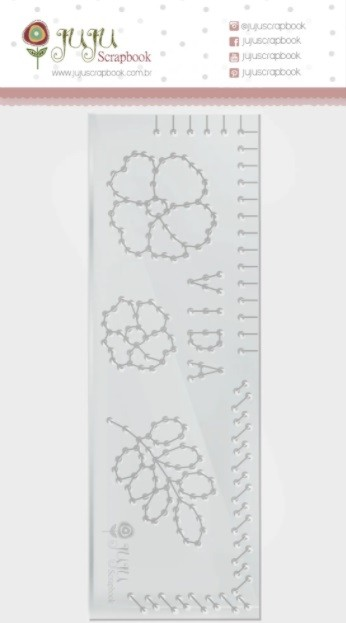 Régua de Costura Vida - Coleção Cartas para Você - JuJu Scrapbook (11541)