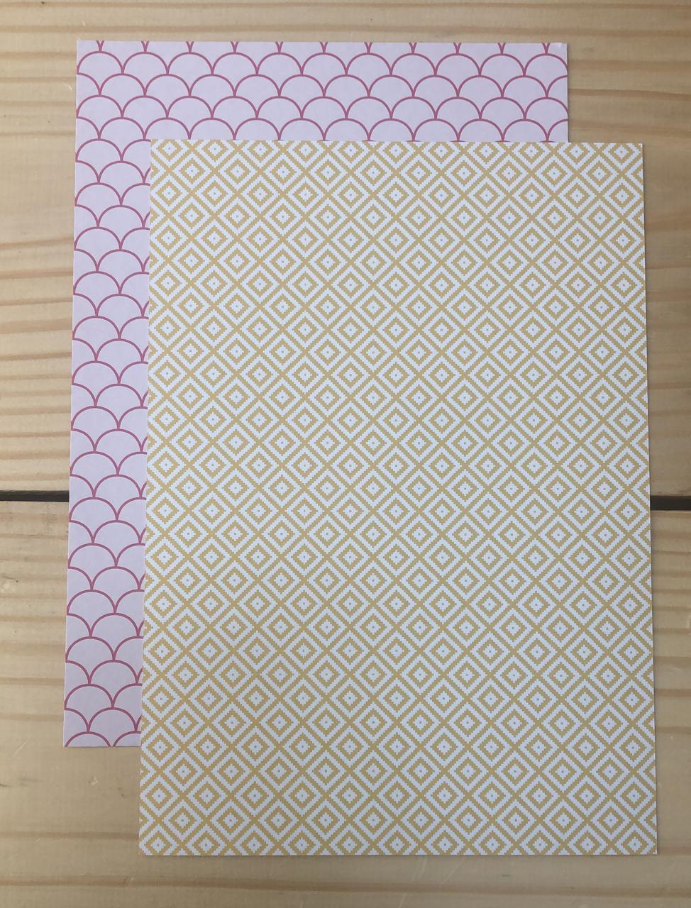 Papel Scrap A4 - Felizes para Sempre 3 - Studio Baunilha (SB0043)