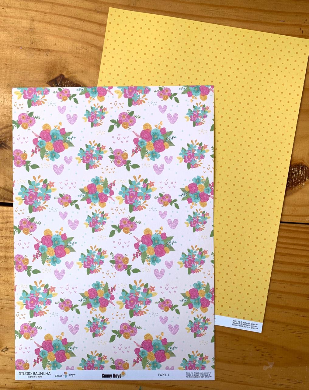 Papel A4 - Sunny Days 1 - Studio Baunilha (SB0091)