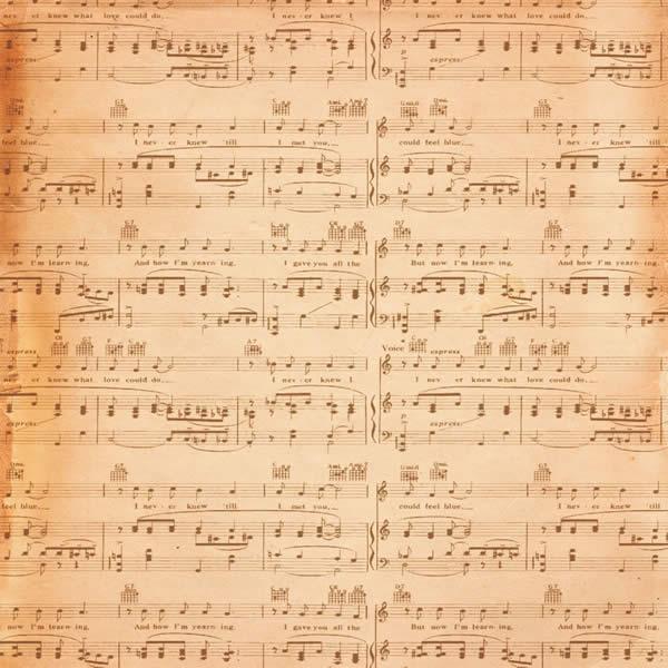Papel Scrap - Música e flores - Arte Fácil (SC-203)