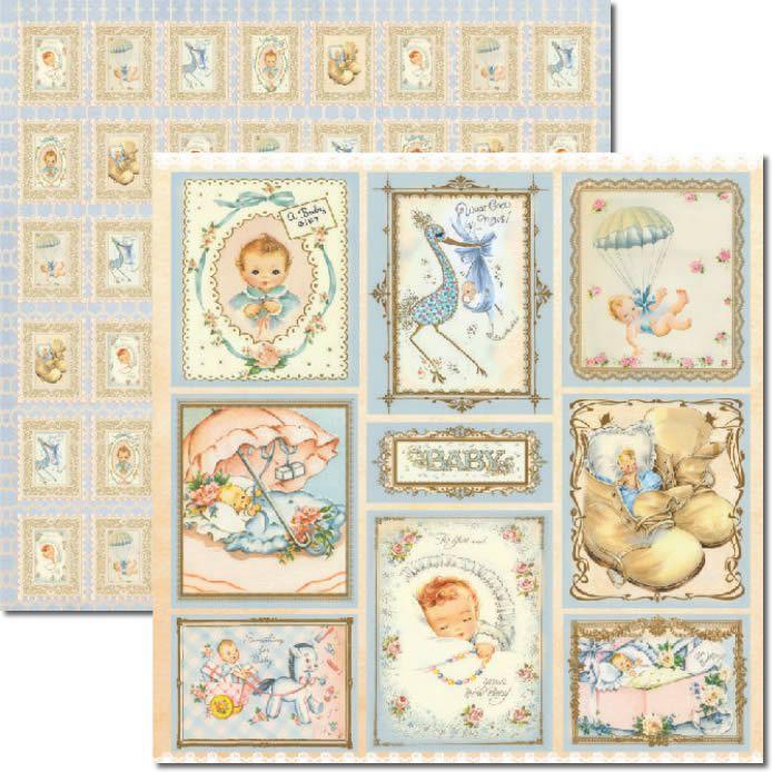 Papel Scrap - Baby Boy - Arte Fácil (SC-267)