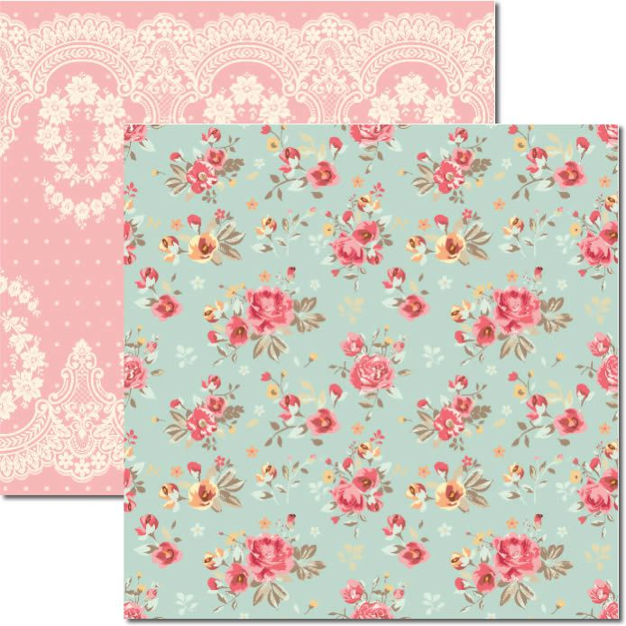 SC-314 - PAPEL SCRAP - FLORAL E RENDA - ARTE FACIL