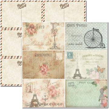 Papel Scrap - Cartões Postais - Arte Fácil (SC-377)