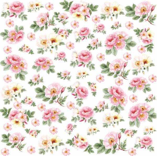 Papel Scrap - Rose e Mint 1 - Arte Fácil (SC-467)
