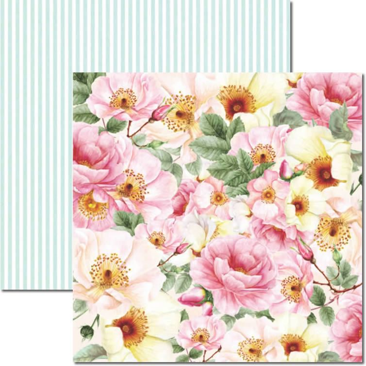 Papel Scrap - Rose e Mint 2 - Arte Fácil (SC-468)
