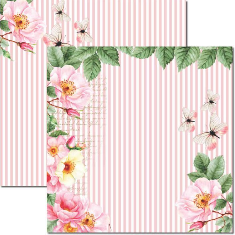 Papel Scrap - Rose e Mint 3 - Arte Fácil (SC-469)