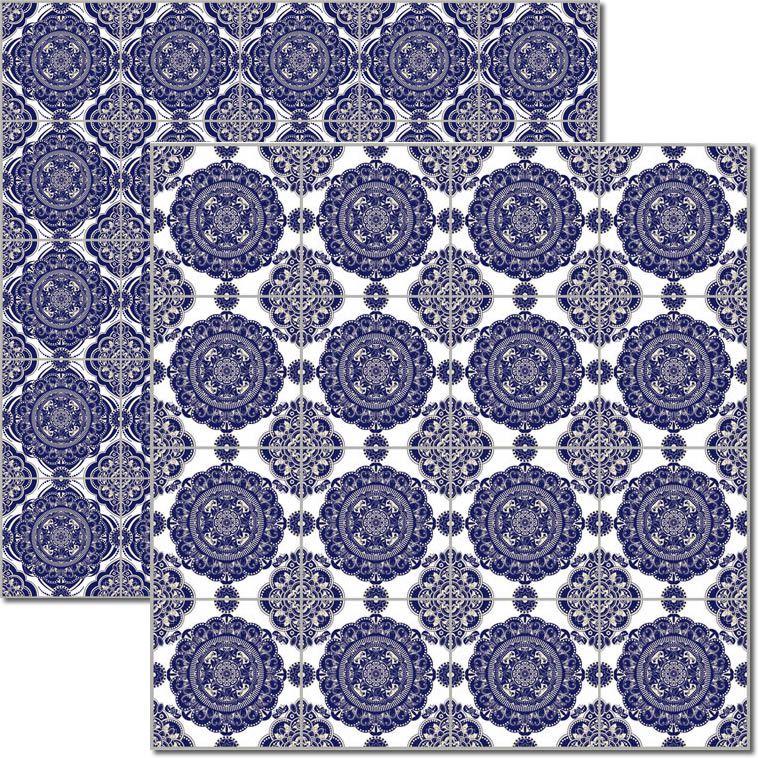 Papel scrap - Azulejo Português 7 - Arte Fácil (SC-479)
