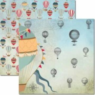 SC-484 - Papel Scrap - Le Ballon 2 - Arte Fácil