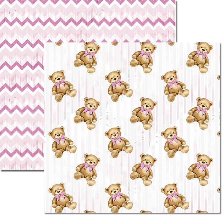 SC-498 - Papel Scrap - My Baby Girl 3 - Arte Fácil