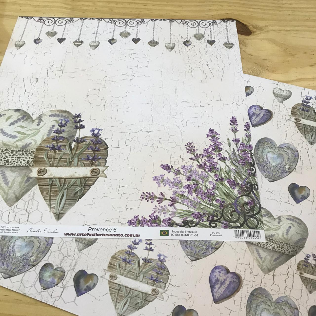 Papel Scrap - Provence 6 - Arte Fácil (SC-545)