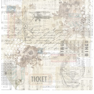 TWN02 - Papel Scrap - Travel is All We Need - Carina Sartor
