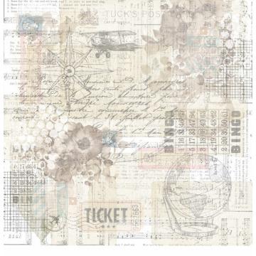 Papel Scrap - Coleção Travel is All We Need - Carina Sartor (TWN02)