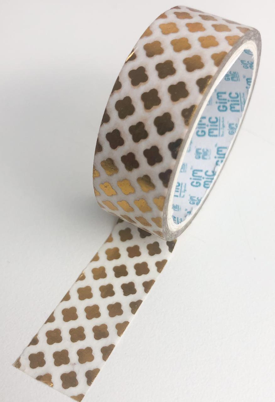 Washi Tape Padrão Dourado (washi34)