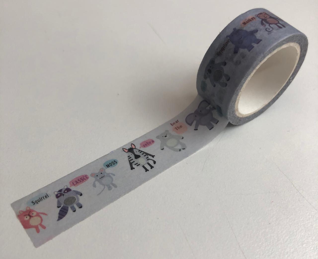 Washi Tapes Bichinhos (washi02)