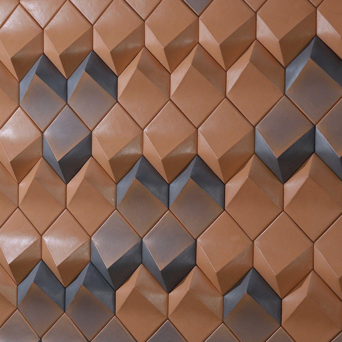 Losango Alto Relevo - Revestimento Cerâmico Natural (Caixa com 0,57m²)