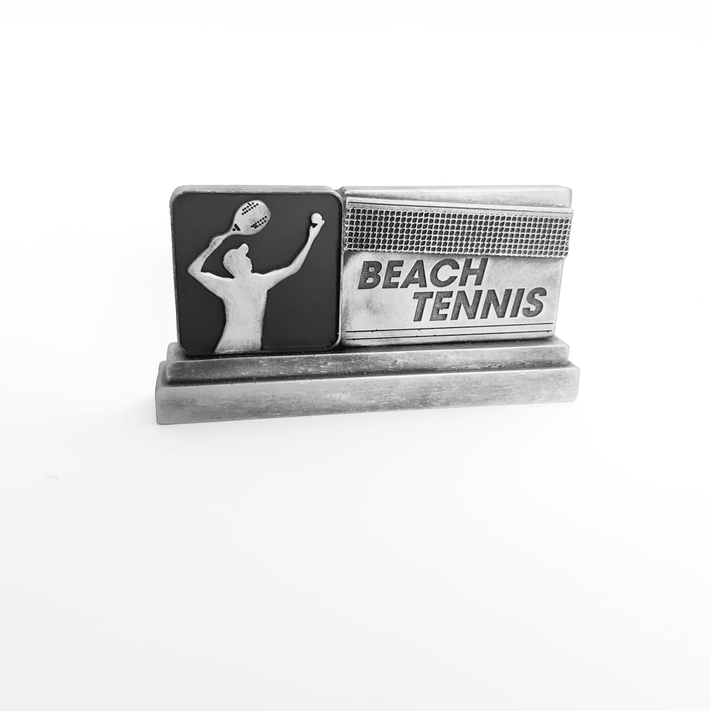 Troféu  em resina- Beach Tennis / Atleta / Saque Horizontal