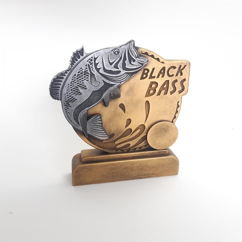 Troféu em resina- Black Bass / Peca / 2D