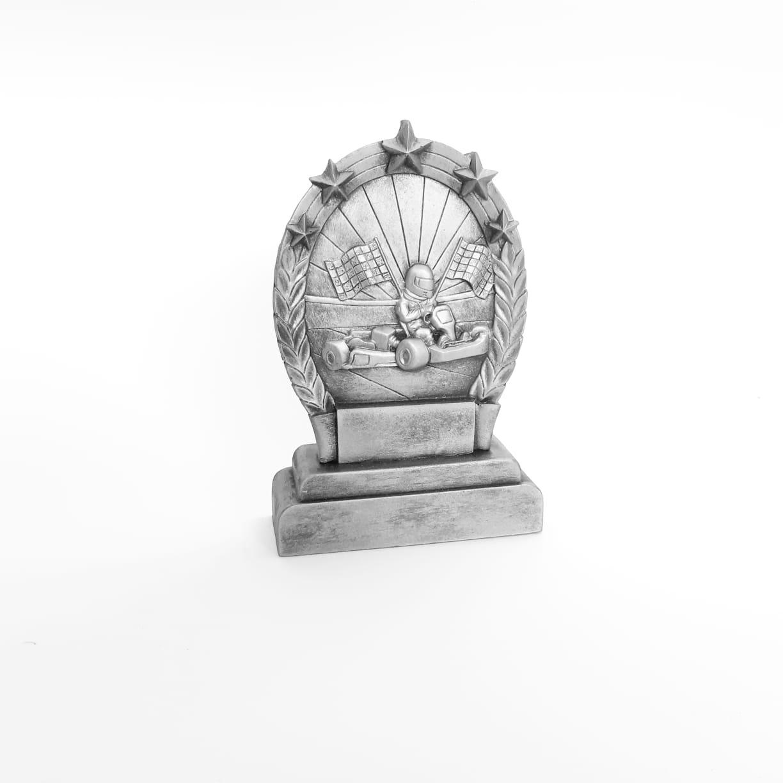 Troféu  em resina- Kart / Corrida / 2D Oval