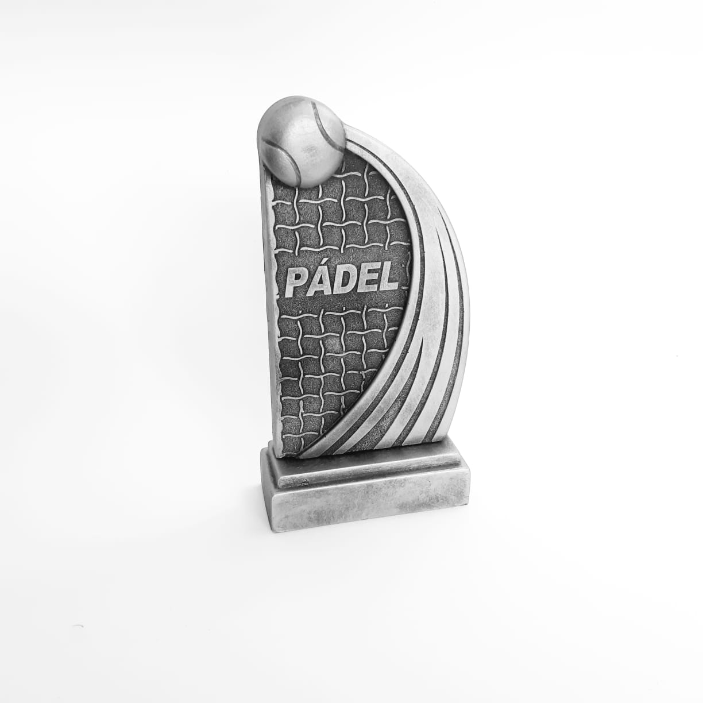 Troféu  em resina- Pádel / Rede / Bola
