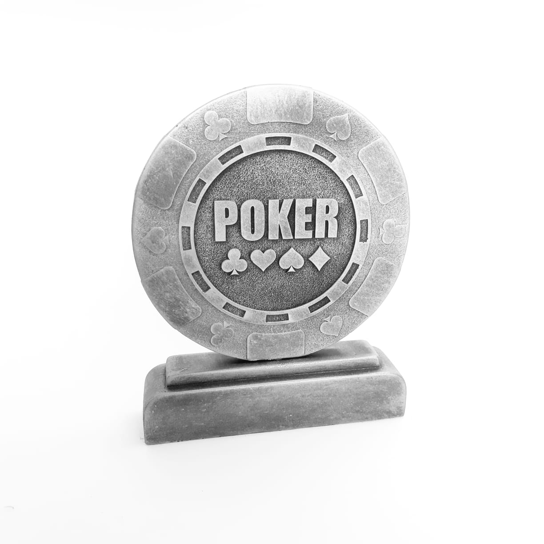 Troféu em resina- Poker / Ficha