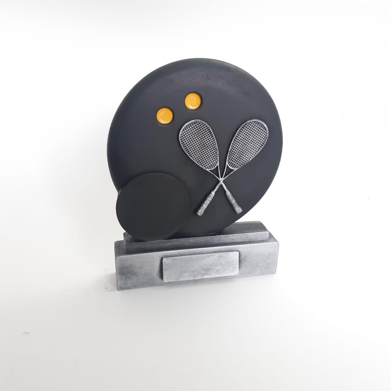 Troféu em resina- Squash / Bola 2D Relevo