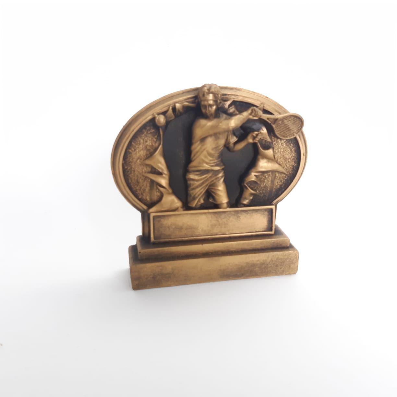Troféu  em resina- Tennis / Tenis / Atleta 3D