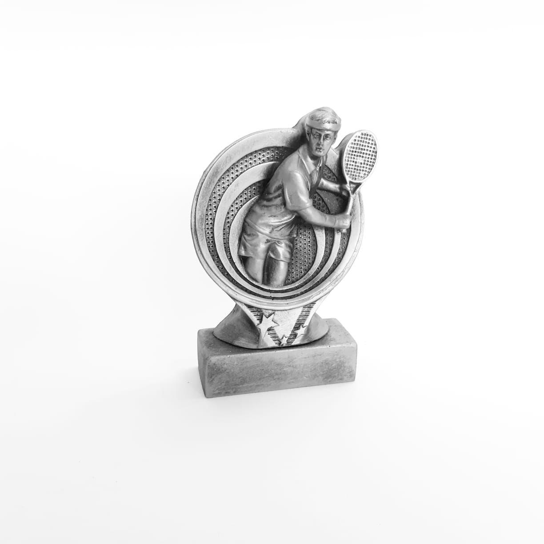 Troféu  em resina- Tennis / Tenis / Atleta 3D / Redondo M