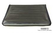 Bandeja Anel de Veludo Preto com tampa plástica transparente ( 19x28x2 )