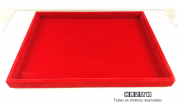 Bandeja Grd. Lisa Veludo Vermelho 28x38x2.5